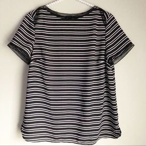 Tommy Hilfiger Black and White Striped Top